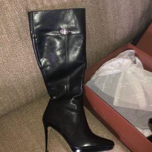a1c2ba9c62 Coach Shoes | Fara Tall Grey Suede Boots 8b | Poshmark